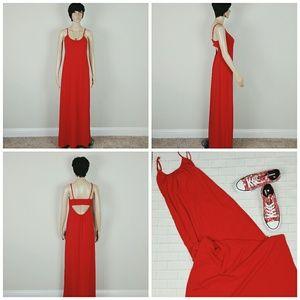 Express Maxi cutout back red dress size small